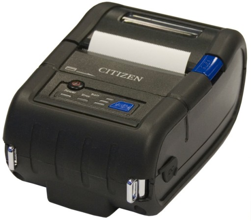 Citizen. Mobile (on the move) portable belt thermal label printers. Citizen CMP-20 2 inch tough mobile receipt / label printer (Serial, USB, Bluetooth, WiFi options) Windows Mobile, Android, Blackberry, Symbian, iOS, etc.. Lowest price at barcode.co.uk