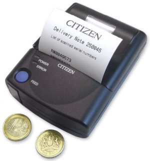 Citizen. Desktop (medium duty) printers. Citizen PD22 mobile thermal label / receipt / ticket printer. Lowest price at barcode.co.uk