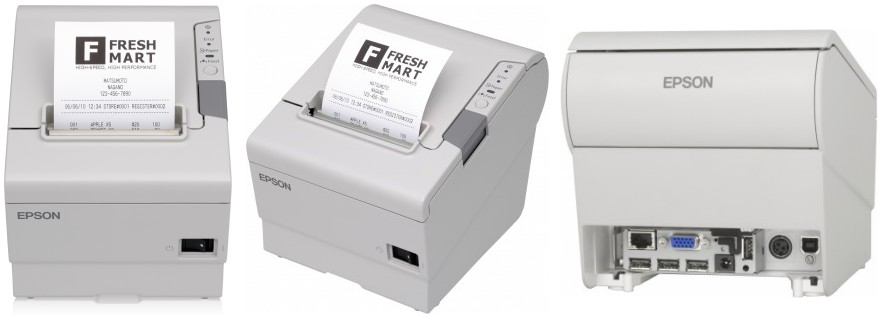 Epson. Receipt printers / receipt like ticket printer. Epson TM-T88V-i receipt printer with cutter. Inferfaces; 1 x Ethernet, 4 x USB, 1 x Micro USB. Lowest price at barcode.co.uk
