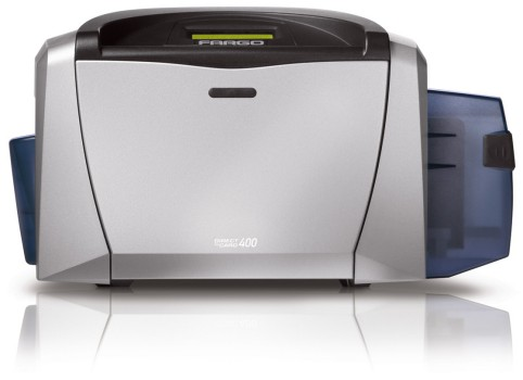 Fargo. Card printers / plastic ID cards. Fargo DTC400 colour card printers. Lowest price at barcode.co.uk