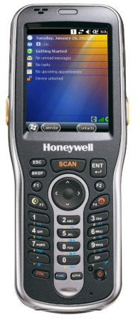 Honeywell (HHP Handheld). Portable / mobile wireless terminals (WiFi 802.11 / GPRS internet / Bluetooth / etc. ) Pocket PC, Microsoft Windows Mobile, CE 5.0 / 6.0, Visual Studio, .Net, flash, touch screen, etc.. Honeywell Dolphin 6100 mobile computer with fully integrated barcode reader. Lowest price at barcode.co.uk