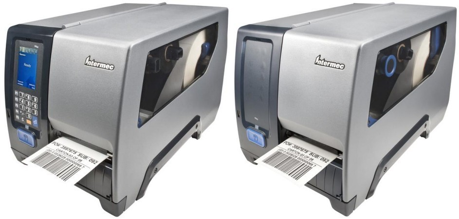 Intermec. Midrange (workhorse) thermal label printers. Intermec PM43 mid-range industrial thermal transfer and direct thermal label, ticket and tag printer. USB host (USB keyboards, USB drives, etc.). Options: Touch screen, RFID, etc.. Lowest price at barcode.co.uk