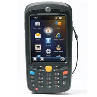 Motorola (Symbol Technologies). Portable / mobile wireless terminals (WiFi 802.11 / GPRS internet / Bluetooth / etc. ) Pocket PC, Microsoft Windows Mobile, CE 5.0 / 6.0, Visual Studio, .Net, flash, touch screen, etc.. Motorola MC55A0 / MC55N0 portable / mobile / wireless PDA with Bluetooth, Windows Mobile 6.5, colour QVGA, keyboard obtions, 1D laser / 2D imager options. Lowest price at barcode.co.uk