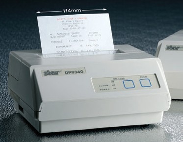 Star Micronics. Receipt printers / receipt like ticket printer. Star DP8340 receipt printers. Lowest price at barcode.co.uk