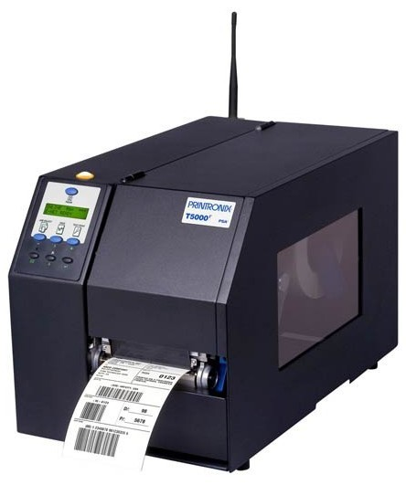 Printronix. High end (industrial) printers. Printronix T5000r (T5208r / T5308r) 8.5 inch wide thermal barcode label printer. Lowest price at barcode.co.uk