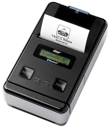 Star Micronics. Mobile (on the move) portable belt thermal label printers. Star Micronics SM-S220i portable printer (battery powered) Apple MFi / IOS / Android / etc. Bluetooth (SPP) and RS232 serial. Lowest price at barcode.co.uk
