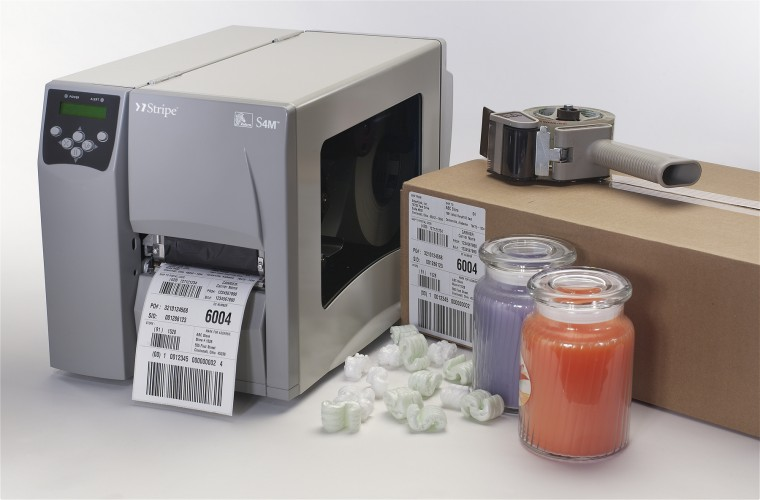 Zebra (Eltron). Midrange (workhorse) thermal label printers. Zebra S4M (miscellaneous configurations) thermal transfer and direct thermal label printer. High speed and large capacity. Free label design software. Lowest price at barcode.co.uk